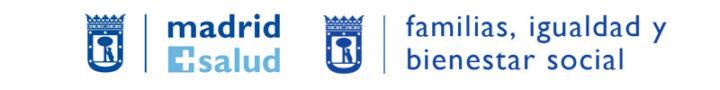 Logotipos del Área de familia, igualdad y bienestar social y Madrid Salud. Soledad no deseada